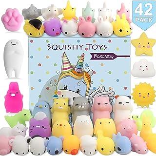 POKONBOY 42 Pcs Mochi Squishies Mini Squishy Toys, Kawaii Animal Squishies Stress Relief Toys for Boys & Girls Birthday Gi...