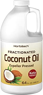 Liquid Coconut Oil for Cooking | 64 oz | Fractionated & Unflavored | Keto Friendly | Vegetarian, Non-GMO & Gluten Free | b...