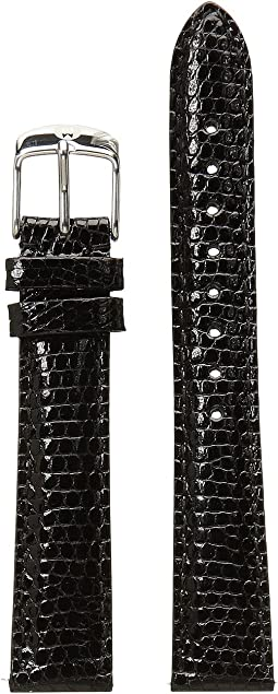 Michele - 16mm Black Lizard Watch Strap