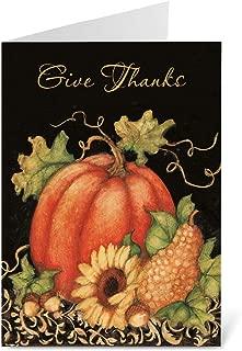 Pumpkin Harvest Scripture Thanksgiving Greeting Cards - Set of 8 (1 design)