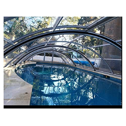Thermal Swimming Pool Safety Covers Rectangle Inground Swimming Pool Covers Sliding Swimming Pool Enclosures Canopy Shelters Dome Roof Retractable Polycarbonate Pool Covers
