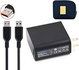 KINGDO Yoga Power Supply Adapter Charger 40W 20V 2A or 5.2V 2A for Lenovo Yoga 3 Pro Convertible Ultrabook Tablet with 6.7Ft Power Cord Including a Carrying Pouch