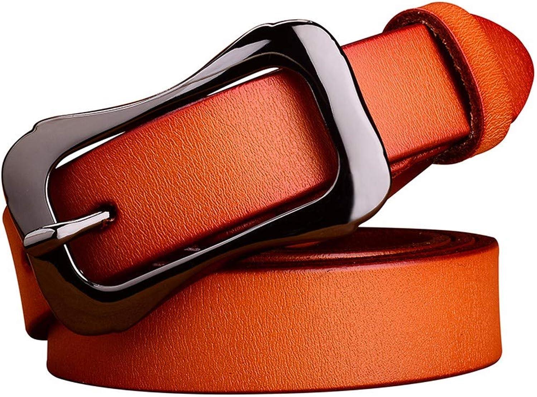 Women's Jeans Belt Belt Pure leatherbrown110cm