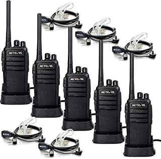 Retevis RT21 Walkie Talkies for Adults Long Range 2 Way Radio FRS Radio VOX Two Way Radio with 2 Pin Covert Air Acoustic Earpiece(5 Pack)