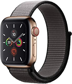 Apple Watch Kordon 38 mm - 40 mm Seri 2 3 4 5 Spor Loop Dokuma Demir Grisi