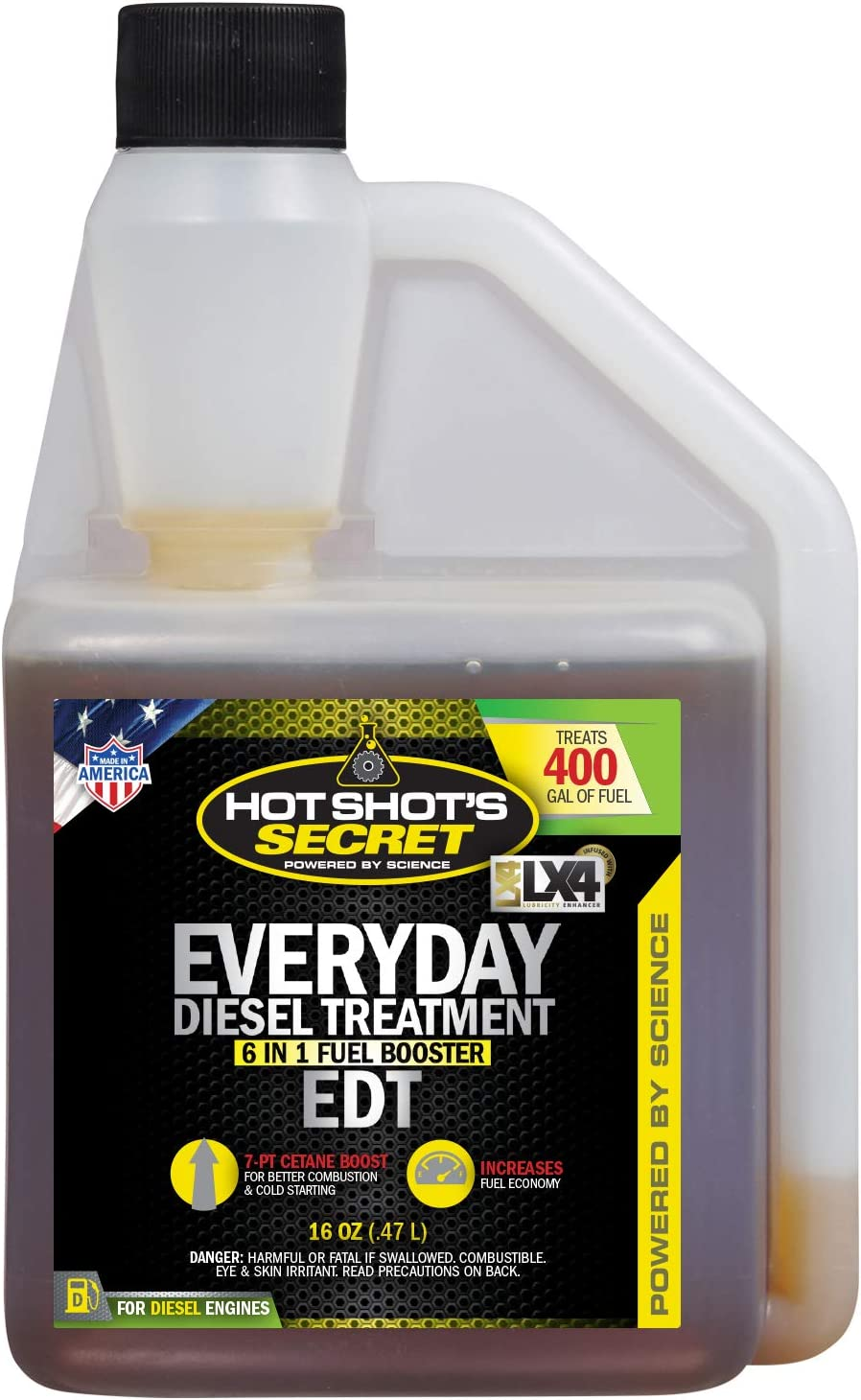 Hot Shot's Secret Everyday Diesel Treatment 16 Ounce Squeeze Bottle (HSSEDT16ZS)