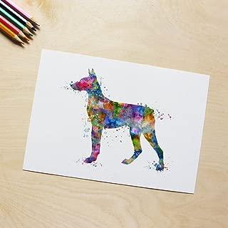 Doberman Pinscher Dog Art Print Poster Doberman Pinscher Wall Art Wall Hanging Art Wall Decor Dog Painting for New House Wall Art Decor No Frame P300