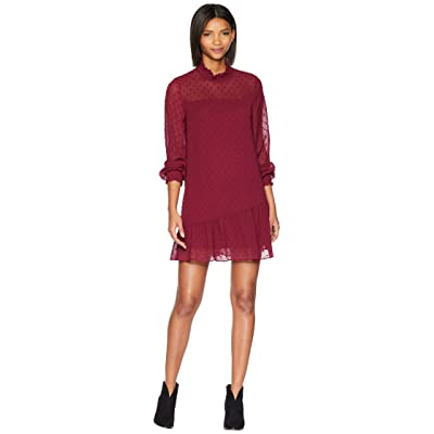 kensie Crinkle Dot Dress KS0K8389 (Berry Juice) Women
