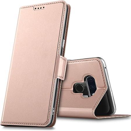 LG style3 L-41A ケース KuGi LG style3 ケース 手帳型 スタンド機能 QI充電対応 カード入れ 2枚 マグネット式 薄型 耐衝撃 高級 PUレザー 折り畳み式 LG style3 ケース 全面保護カバー カード収納 ローズゴールド