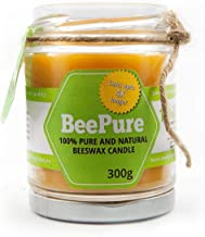 BreatheFresh BeePure Smoke-free Cotton Wick Natural Beeswax Candle (300 g)
