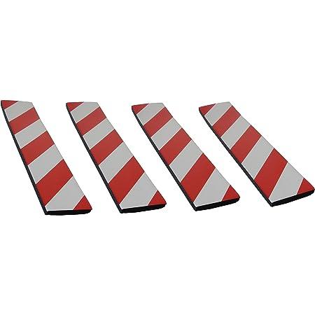 Sns Safety Ltd Selbstklebenden Stoßdämpfende Schaumstoff Wandplatten Für Garagenwand Und Autotür Schutz 4 Stück 44cmx10cmx1 5cm Rot Weiß Auto