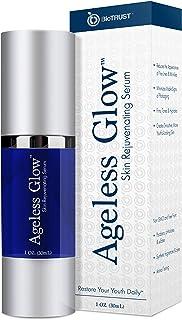 BioTrust Ageless Glow Anti Aging Moisturizer, Skin Brightening Serum with Vitamin C and Hyaluronic Acid, Pl...