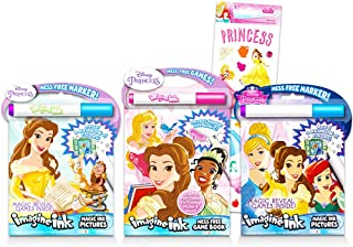 Disney Princess Invisible Ink Activity Book Set -- 4 Magic Disney Princess Coloring and Activity Books for Girls Kids Todd...