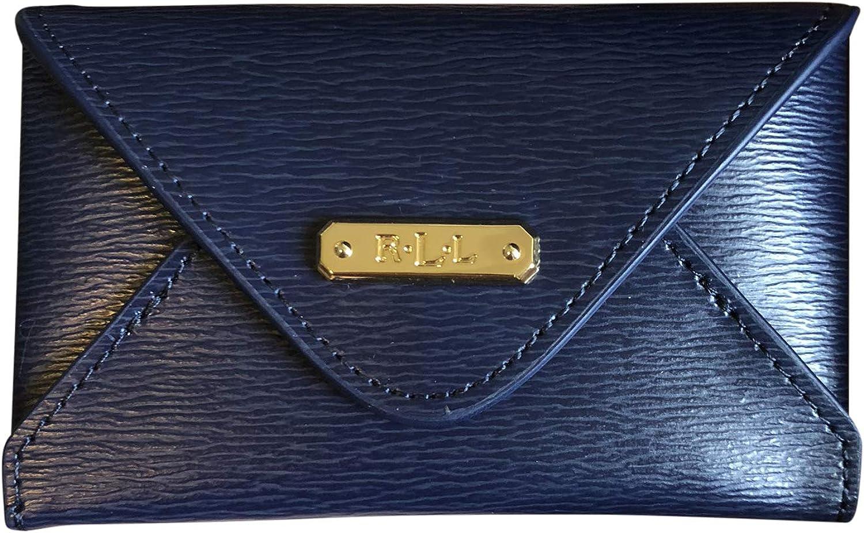 Lauren Ralph Lauren Women's Leather Newbury Envelope Card Case Navy