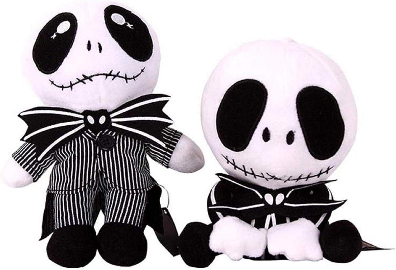 2 pcs Black Eyes Nightmare Before Christmas Plush Toy Stuffed Doll