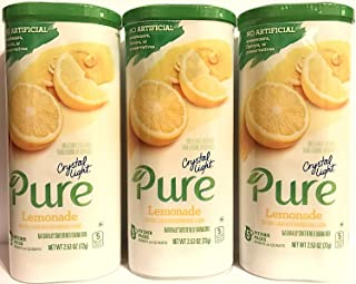 Crystal Light Pure Drink Mix - Lemonade Flavor - 5 Count Pitcher Packs Per Container - Pack of 3 Containers