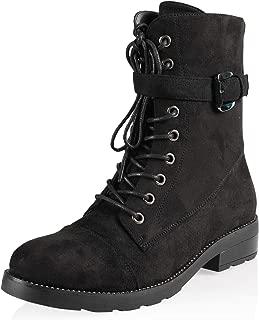 Women's Fashion Chunky Low Heel Ankle Boot Shoe
