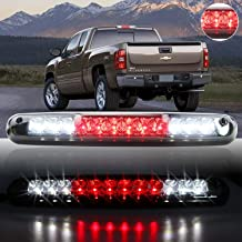 Sanzitop Fit for 2007-2013 Chevy Silverado/GMC Sierra LED 3rd Brake Light Rear Tail Brake Light Cargo Lamp Rear Lamp 25890530 (Chrome Housing Smoke Lens)