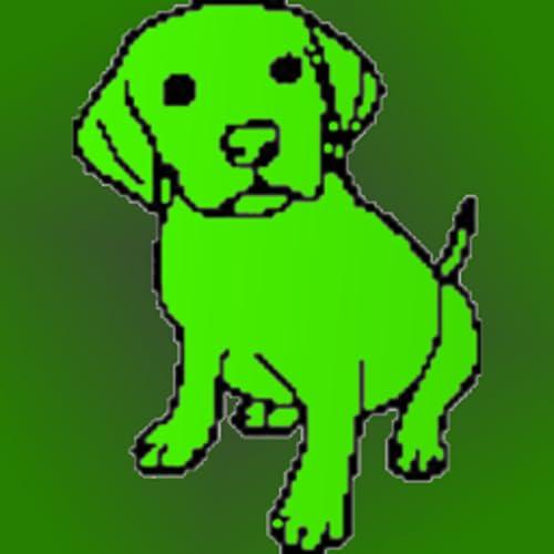 Doodle Dawg - Skizzieren, zeichnen, Farbe, Design auf einer leeren Leinwand oder ein Foto