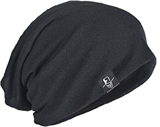 Sponsored Ad - FORBUSITE Mens Thin Slouchy Beanie Retro Summer Cool Skull Cap Baggy Oversized Knit Hats