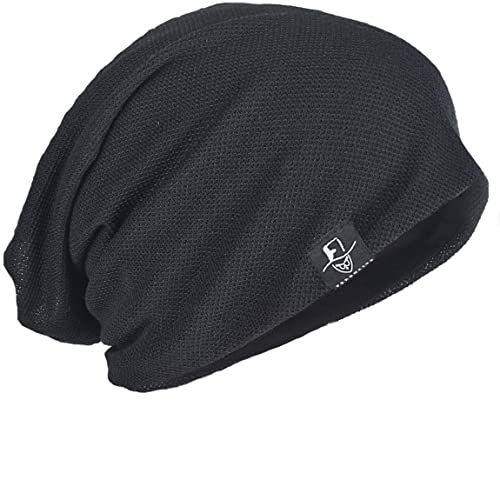 bb3e53b903f FORBUSITE Mens Solid Thin Slouchy Summer Beanie Winter Cap Hat
