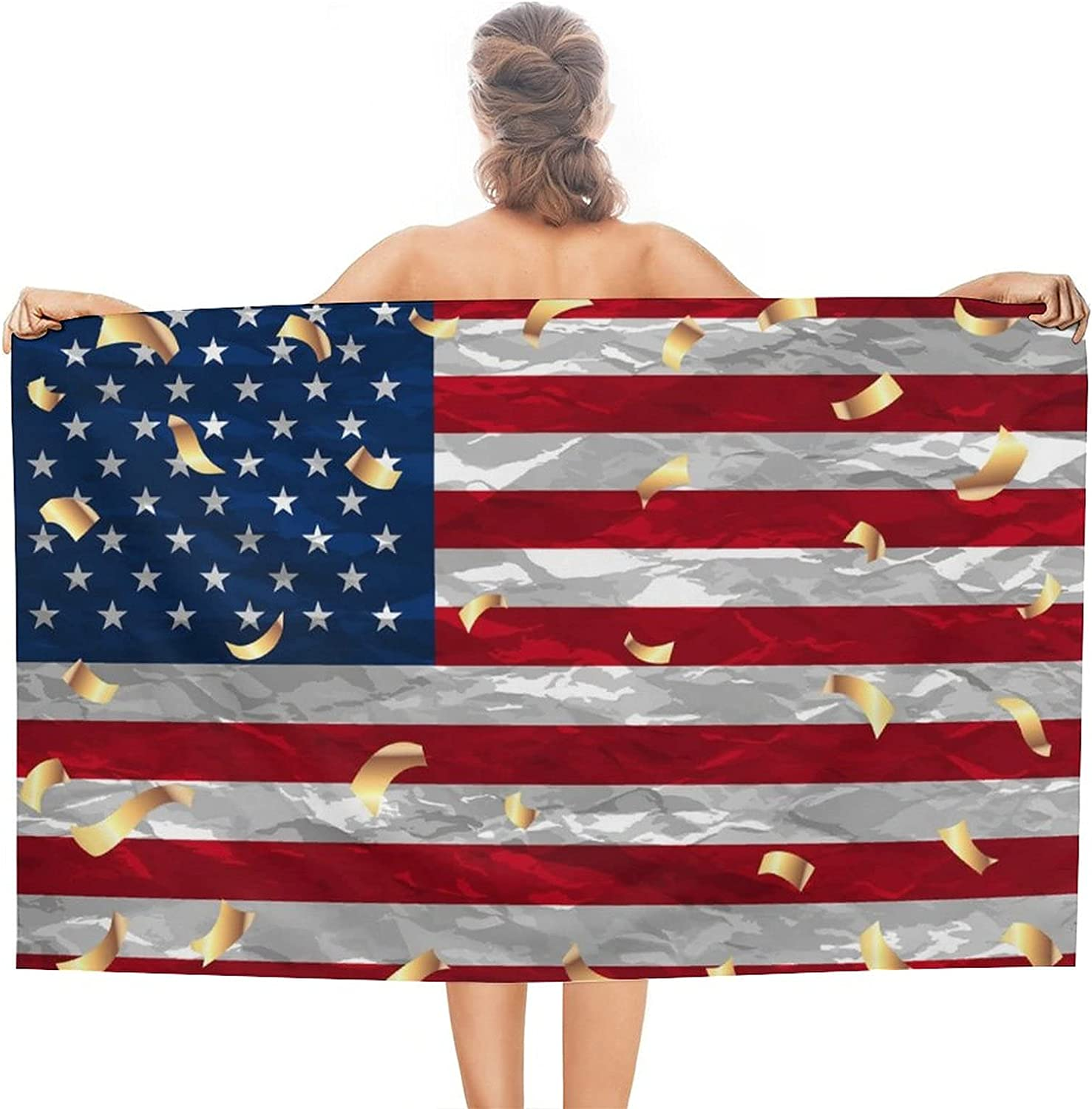 PSSMMAL USA Flag Beach Towel Oakland Mall Quick for Bathroom Adults Dry Recommendation
