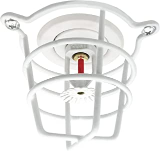 Happy Tree (2 Pack) White Fire Sprinkler Head Guard for Both 1/2