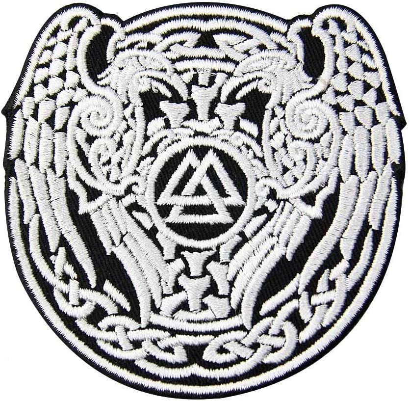 Valknut Triangle Symbol Viking Norse Patch Inexpensive Rune Popular overseas Appl Embroidered