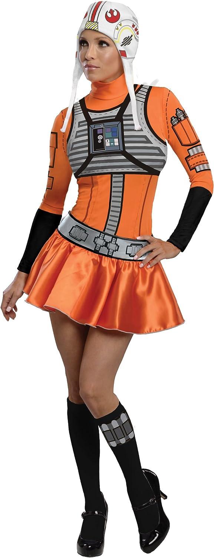 Secret Wishes Star Wars Woman's  XWing Fighter, orange Black, Large