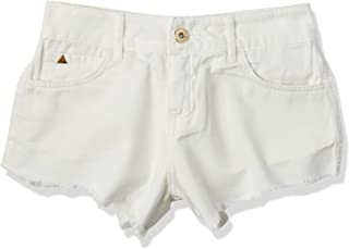 Shorts de sarja Destroyed na barra, Colcci, Feminino