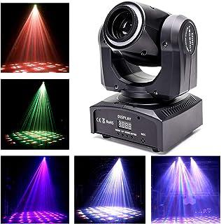 UKing DMX512 - Foco led con efecto caleidoscopio para discoteca, 60 W, con anillo de iluminación, iluminación para escenarios y fiestas, bares, Navidad, Halloween