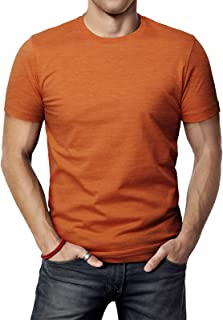 9789945bea6 H2H Mens Casual Slim Fit Short Sleeve T-Shirts Cotton Blended Soft  Lightweight V-