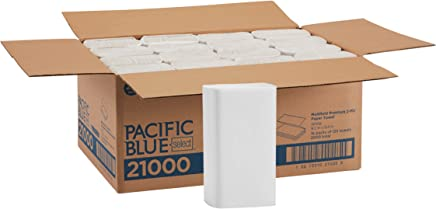 Georgia-Pacific Pacific Blue Select Multifold Premium 2-Ply Paper Towels (Previously Signature) by GP PRO, White, 21000, 125 Paper Towels Per Pack, 16 Packs Per Case