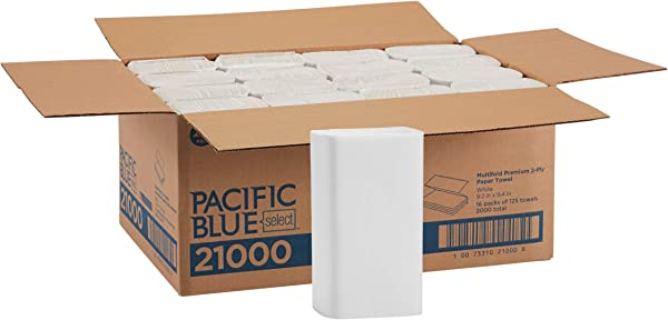 Pacific Blue Select Multifold Premium 2 Ply Paper Towels By GP PRO Georgia Pacific White 21000 125 Paper Towels Per Pack 16 Packs Per Case