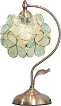 "8""W x 17"" H Cherry Blossom Tiffany Style Gebrandschilderd glazen tafellamp met bloemblaadje lampenkap Vintage messing basi..."