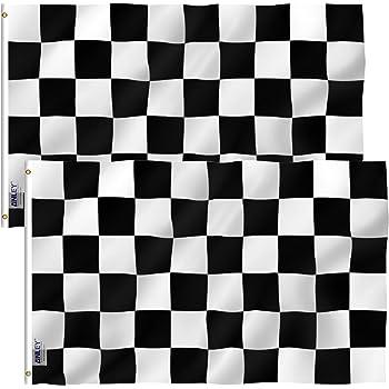 Black and White Checkered Flag Pinch Hair Bow