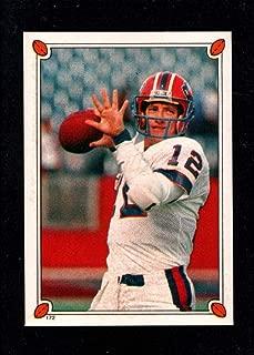Football NFL 1987 Topps Stickers #172 Jim Kelly Bills
