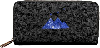 Pyramids Orion's Belt Women Leather Wallets Zipper Clutch Purse