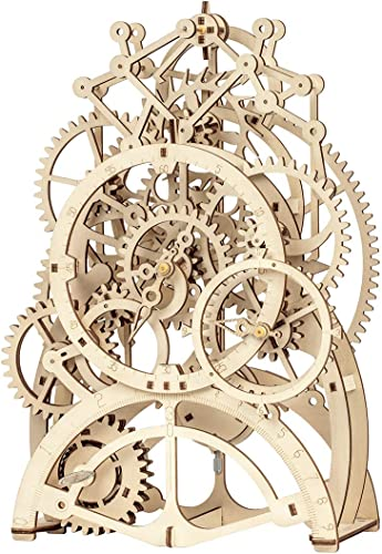 2021 ROKR 3D Wooden Mechanical Pendulum sale Clock Puzzle,Mechanical Gears Toy 2021 Building Set,Family Wooden Craft KIT Supplies-Best Birthday Gifts for Kids Adults to Build sale