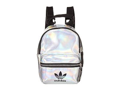 adidas Metallic Mini PU Backpack (Silver Metallic/Iridescent) Backpack Bags