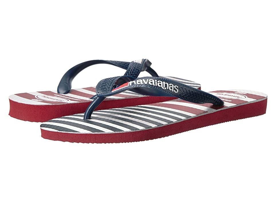 Havaianas USA Stripe Logo Flip-Flops (Red) Men