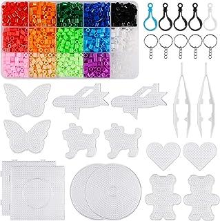 Perles Repasser Pour Enfants et Bijoux Fabrication DIY Artisanat Loisirs Créatifs Kit Plastique 15 Couleurs Jouets Cadeau