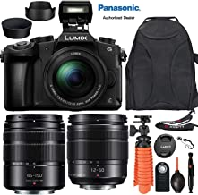 $699 » Panasonic Lumix DMC-G85 Mirrorless MFT Digital Camera with 12-60mm & 45-150mm Lens + Travel Accessory Bundle incl. Camera Backpack, Flex Tripod, Neck Strap, Wireless Remote, Lens Hoods and More