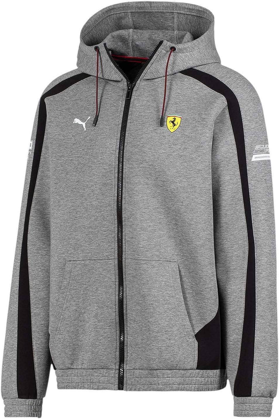Amazon Com Puma Men S Scuderia Ferrari Hooded Jacket Clothing