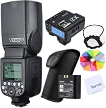 Godox V860II-C 2.4G Wireless E-TTL II 1/8000s HSS Flash Speedlite with X2T-C Wireless Trigger, with Built-in Large Capacity Lithium Battery, Compatible with Canon EOS Camera