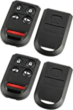Key Fob Shell fits 2005-2010 Honda Odyssey Keyless Entry Remote Case & Button Pad (OUCG8D-399H-A), Set of 2