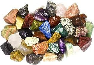 Hypnotic Gems 2 Pounds (BEST VALUE) Bulk Rough INDIA Stone Mix - Over 25 Stone Types - Large 1