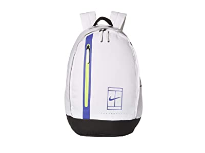 Nike Court Advantage Tennis Backpack (White/Black/Rush Violet) Backpack Bags