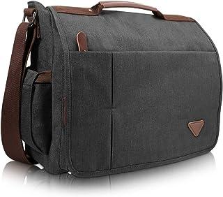GENESS® - Bolsa de mensajero para hombre, impermeable, para ordenador portátil, bolsa de hombro para hombre de 15 pulgada...