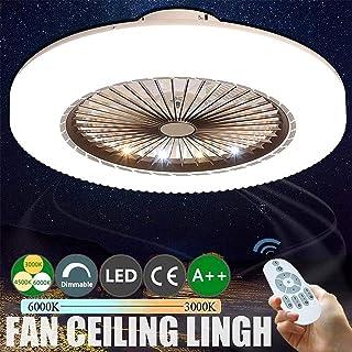 WJJH Ventilador de Techo LED con Luces Regulables con Ventilador de Techo 3 Control Remoto Velocidad Moderno Luces Comedor Dormitorio Sala de Control Remoto Lámparas Ventilador,1